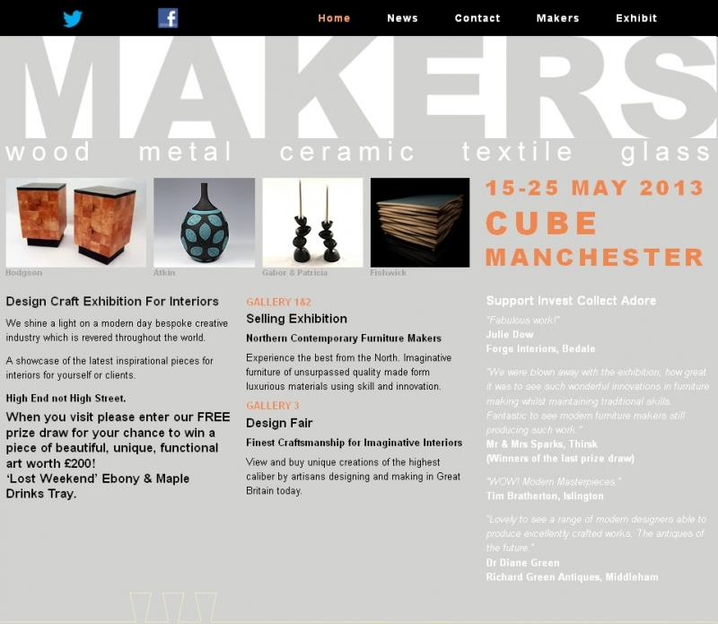 MAKERS Exhibition at Cube Gallery, Manchester