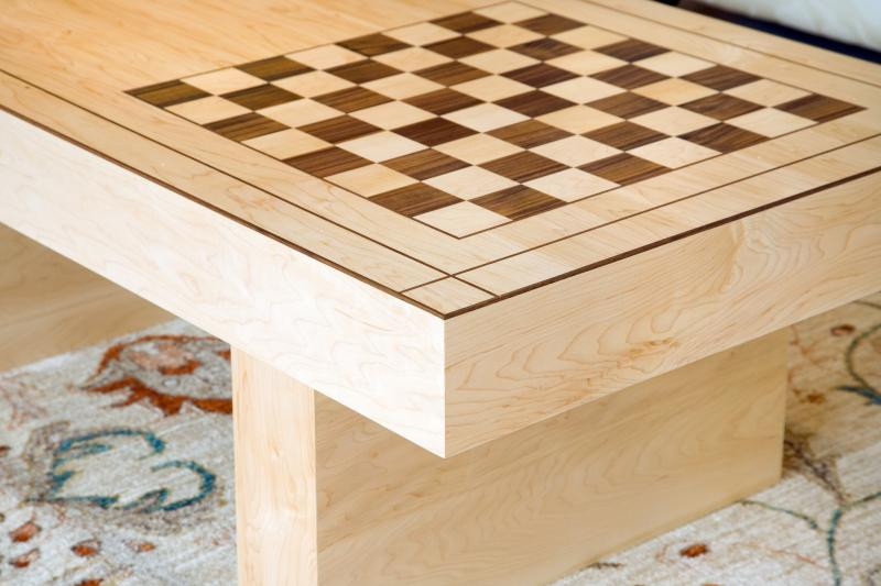 Chess table detail by Andrew Lawton