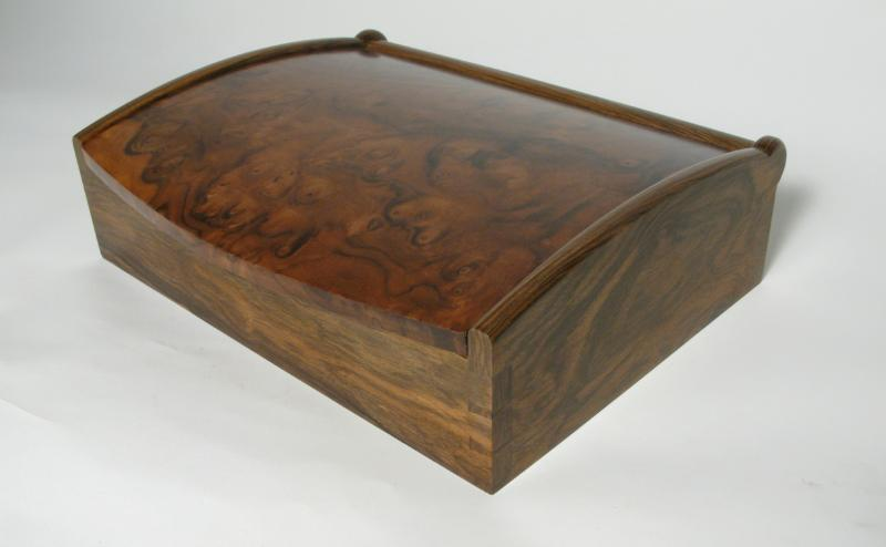 Curve top jewellery box by Chris Tribe