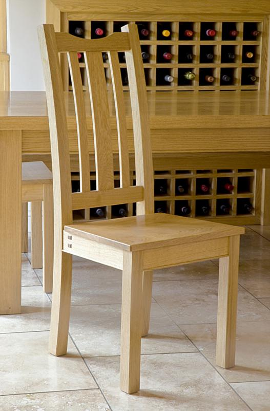 Oak dining chair by Chris Tribe