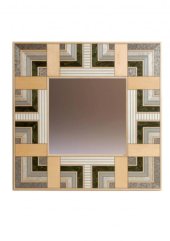 Marquetry mirror - Formal Garden by Christine Meyer-Eaglestone