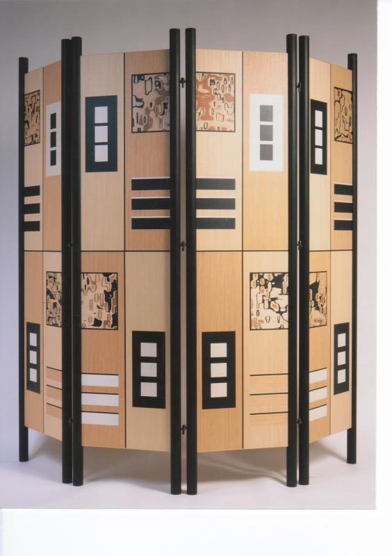 Marquetry screen - Bold II by Christine Meyer-Eaglestone