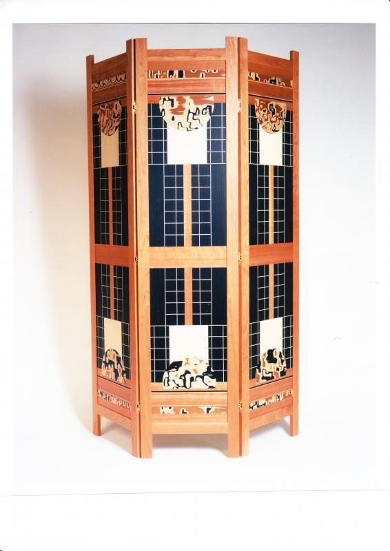Marquetry screen - Oriental Inspiration by Christine Meyer-Eaglestone