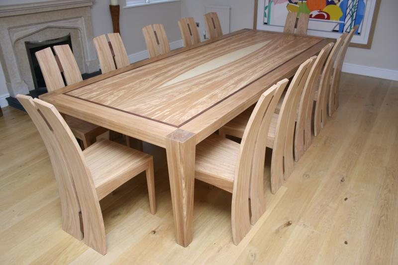 Mandorla dining table and chairs by David Tragen
