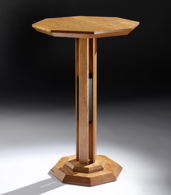 Obelisk pedestal table by David Tragen