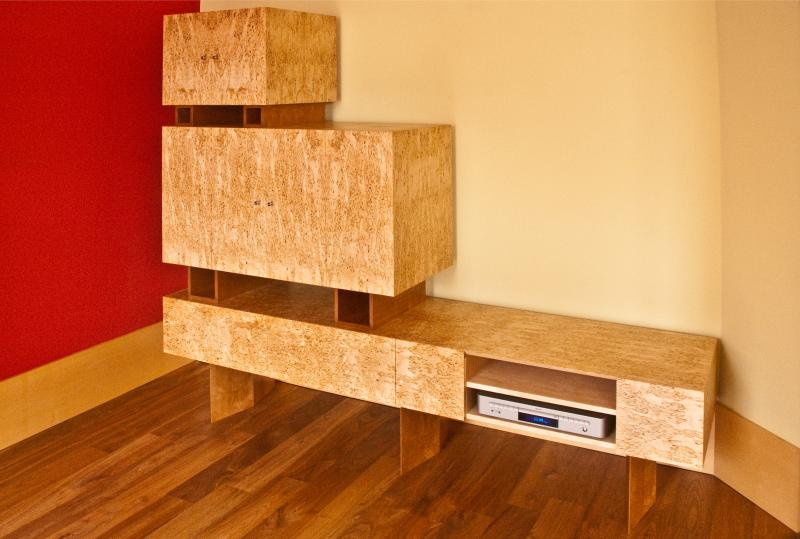 Media cabinet by Design in Wood