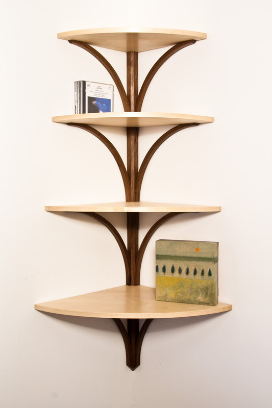 'Tree' hanging shelves by Design in Wood