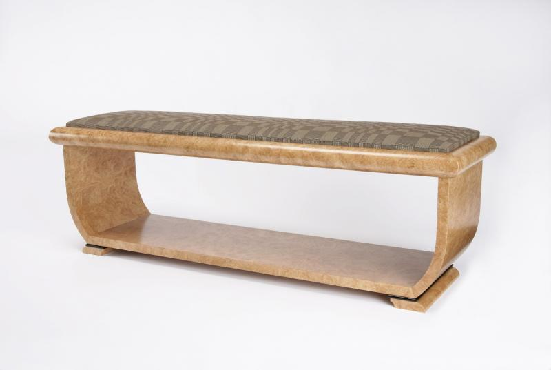 Burr Chestnut Bench Seat by Philip Dobbins