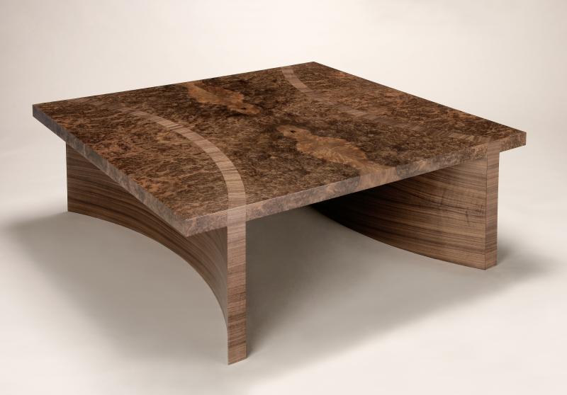 Burr Walnut Coffee Table by Philip Dobbins