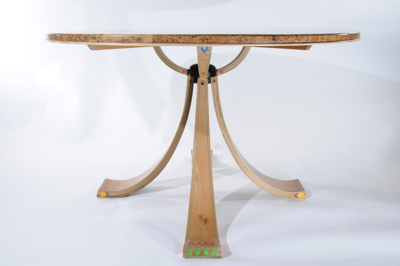 Egyptian hall table base by Sam Anderson