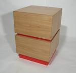 Cubist Drawers (Red) by Chris Tribe