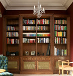 Bookcase in walnut by Dovetailors