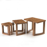 Nest of Tables in Walnut by Dovetailors