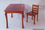 Cherry Table and Chairs by Richard Jones