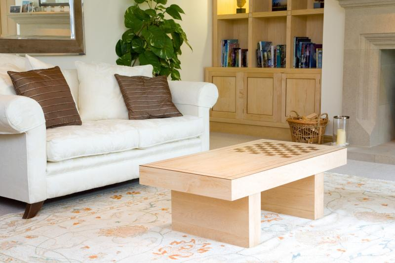 Chess table and bookcase by Andrew Lawton