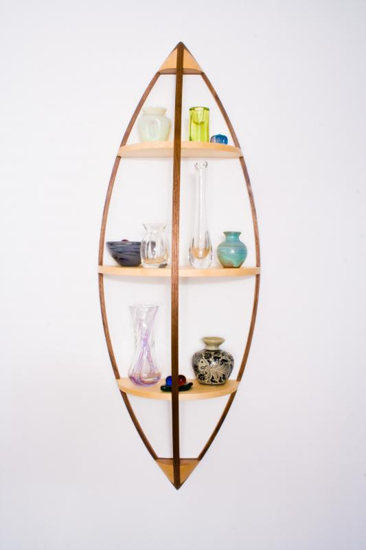 Hanging shelves by Design in Wood