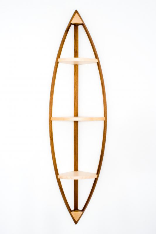 Quadrant hanging shelves by Design in Wood