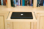 Secret drawer in bookcase for laptop. by Andrew Lawton
