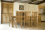 Oak dining suite by Chris Tribe