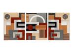 marquetry wall-panels - 'Grid I', 'Arc III', 'Grid II' by Christine Meyer-Eaglestone