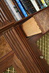 Bookcase drawer details by Dovetailors