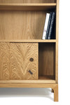 Bookcase in oak - detail by Dovetailors