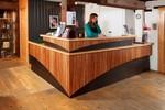 Ropewalk Reception counter by Tim Rinaldi
